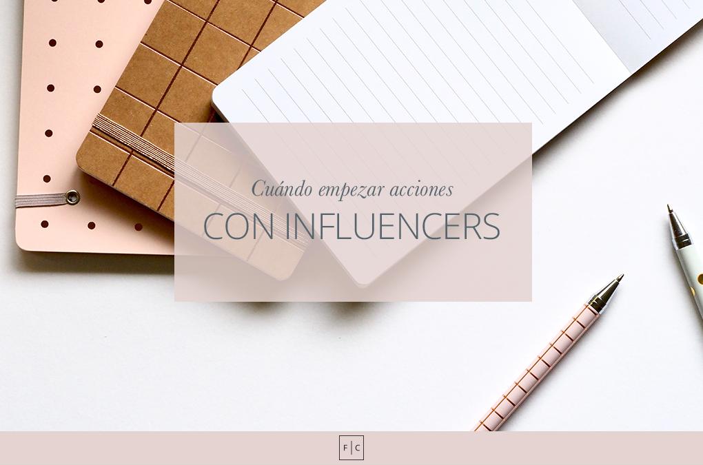 Cuándo iniciar acciones con influencers